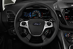 Car pictures of steering wheel view of a 2018 Ford C-Max PHEV SE 5 Door Mini Van