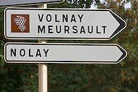 Volnay, Meursault, Nolay. The village. Pommard, Cote de Beaune, d'Or, Burgundy, France