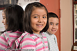 Education Preschool 3-5 year olds portrait of girl and boy closeup smiling horizontal