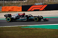 1st May 2021; Algarve International Circuit, in Portimao, Portugal; F1 Grand Prix of Portugal, qualification sessions;  Lewis Hamilton GBR 44, Mercedes-AMG Petronas Formula One Team takes 2nd on pole