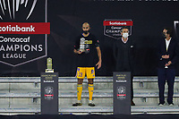 22nd December 2020, Orlando, Florida, USA;  Tigres Guido Pizarro is awarded the fair play award after the Concacaf Championship between LAFC and Tigres UANL on December 22, 2020, at Exploria Stadium in Orlando, FL.
