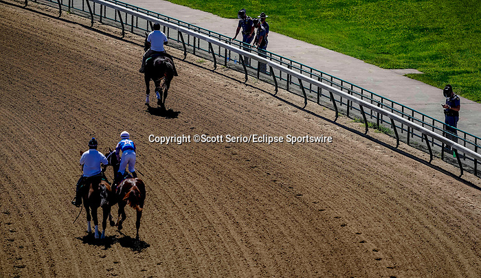 September 5, 2020: Kentucky State Police line most of the circumference of the race track in preparations for planned protests surrounding the death of Breonna Taylor on Kentucky Derby Day at Churchill Downs in Louisville, Kentucky. Scott Serio/Eclipse Sportswire/CSM
