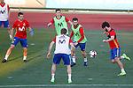 Spain's Cesar Azpilicueta, Ander Herrera, Nacho Monreal, Nacho Fernandez and Isco Alarcon during training session. March 20,2017.(ALTERPHOTOS/Acero)