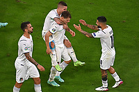 2nd July 2021; Allianz Arena, Munich, Germany; European Football Championships, Euro 2020 quarterfinals, Belgium versus Italy;  Goal celebration from Nicolo BARELLA ITA after his goal for 0-1
