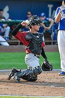 Idaho Falls Chukars catcher Nick Dini (51) during the game against the Ogden Raptors in Pioneer League action at Lindquist Field on September 3, 2016 in Ogden, Utah. The Chukars defeated the Raptors 3-0. (Stephen Smith/Four Seam Images)
