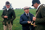 'DUKE OF BEAUFORT HUNT', 84 YEAR OLD HUNT MEMBER GETS A REFILL FOR THE CAPTAIN AT THE END OF THE DAYS HUNTING