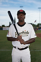 Visalia Rawhide outfielder Marcus Wilson (12) poses for a photo before a California League game against the Stockton Ports at Visalia Recreation Ballpark on May 10, 2018 in Visalia, California. (Zachary Lucy/Four Seam Images via AP Images)