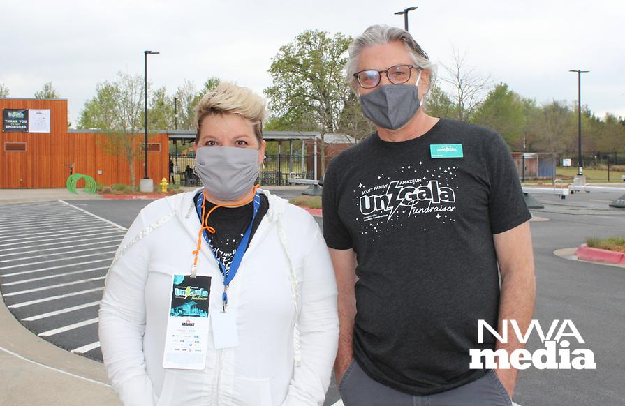 Jennifer Cozens and Paul Stolt<br /> Amazeum UnGala<br /> (NWA Democrat-Gazette/Carin Schoppmeyer)