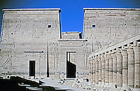 Philae Temple in Aswan.  UNESCO's rescue project, which transferred the monuments block by block from Philae Island to Agilika Island.