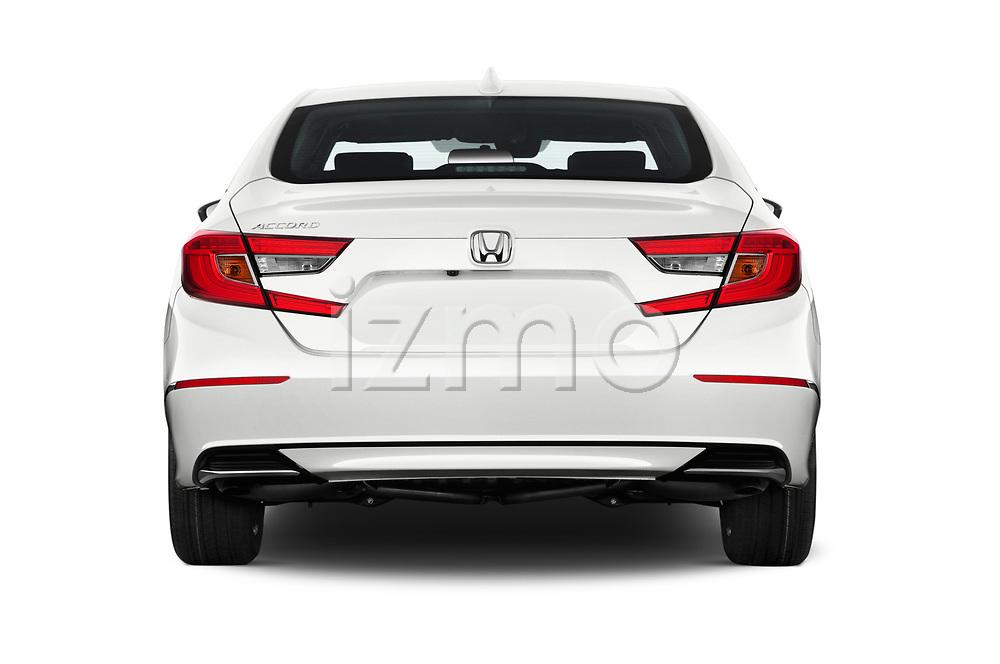 Straight rear view of a 2018 Honda Accord EX 4 Door Sedan stock images