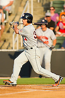 Bryce Harper #34 of the Hagerstown Suns follows through on his swing against the Kannapolis Intimidators at Fieldcrest Cannon Stadium on May 31, 2011 in Kannapolis, North Carolina.   Photo by Brian Westerholt / Four Seam Images