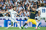 Jorge Resurreccion Merodio, Koke (r), of Atletico de Madrid fights for the ball with Nacho Fernandez of Real Madrid in action during their 2016-17 UEFA Champions League Semifinals 1st leg match between Real Madrid and Atletico de Madrid at the Estadio Santiago Bernabeu on 02 May 2017 in Madrid, Spain. Photo by Diego Gonzalez Souto / Power Sport Images