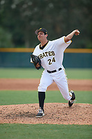 Pittsburgh Pirates pitcher Mason Ward (19) delivers a pitch during an Instructional League game against the New York Yankees on September 28, 2017 at Pirate City in Bradenton, Florida.  (Mike Janes/Four Seam Images)