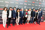 "Adrian Lastra, Ernesto Alterio, Leticia Dolera, Enrique Cerezo, Manuela Carmena, Maggie Civantos, Juan Pablo Shuk, Natalia de Molina and Asier Etxerandia attends to the presentation of the ""Premios Platino"" at Palacio de Cristal in Madrid. April 07, 2017. (ALTERPHOTOS/Borja B.Hojas)"