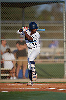 Rashad Robinson (24) during the WWBA World Championship at Lee County Player Development Complex on October 8, 2020 in Fort Myers, Florida.  Rashad Robinson, a resident of Mobile, Alabama who attends Mobile Christian High School, is committed to Memphis.  (Mike Janes/Four Seam Images)