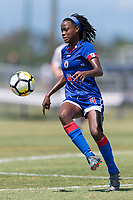Bradenton, FL - Sunday, June 12, 2018: Ruthny Mathurin prior to a U-17 Women's Championship 3rd place match between Canada and Haiti at IMG Academy. Canada defeated Haiti 2-1.