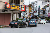 Ipoh, Malaysia.  Street Scene, Beancurd Sign, and Local Architecture.