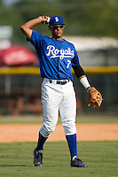 Shortstop Yowill Espinal #7 of the Burlington Royals at Burlington Athletic Park August 6, 2009 in Burlington, North Carolina. (Photo by Brian Westerholt / Four Seam Images)