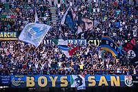 Milan, Italy - september 18 2021 - f.c. inter supporters curva nord  Serie A match Inter- Bologna San Siro stadium