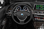 Car pictures of steering wheel view of a 2016 BMW 6 Series 640i Black Accent Pkg 2 Door Convertible Steering Wheel