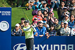 Yeun-Jung Seo of Korea plays a shot as a gallery of fans watch during the Hyundai China Ladies Open 2014 at World Cup Course in Mission Hills Shenzhen on December 14 2014, in Shenzhen, China. Photo by Xaume Olleros / Power Sport Images