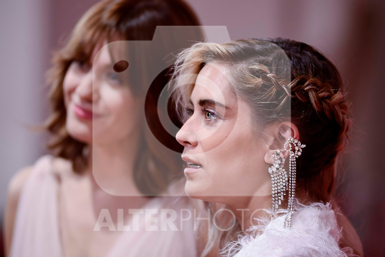 Alexandra Jimenez and Maria Leon attends to the Red Carpet of the Goya Awards 2017 at Madrid Marriott Auditorium Hotel in Madrid, Spain. February 04, 2017. (ALTERPHOTOS/BorjaB.Hojas)