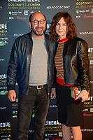 VALERIE LEMERCIER ET KAD MERAD - Vernissage de l' exposition Goscinny - La Cinematheque francaise 02 octobre 2017 - Paris - France
