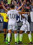 March 3, 2016 : Team USA Crystal Dunn #16, celebrating her Game Winning Goal, with her Teammates , during the matchup between USA and England in the She Believes Cup at Raymond James Stadium in Tampa, Florida.  Douglas DeFelice/ESW/CSM