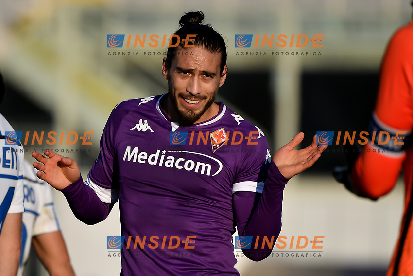 Martin Caceres of ACF Fiorentina reacts during the Italy Cup round of 16 football match between ACF Fiorentina and FC Internazionale at Artemio Franchi stadium in Firenze (Italy), January 13th, 2021. Photo Andrea Staccioli / Insidefoto