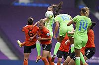 21st August 2020, San Sebastian, Spain;  Ingrid Engen of Vfl Wolfsburg scores the second goal for Vfl Wolfsburg 0-2 during the UEFA Womens Champions League football match Quarter Final between Glasgow City and VfL Wolfsburg.