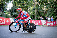 red jersey (overall leader) Nairo Quintana (COL/Movistar)<br /> <br /> stage 10 (ITT): Jurançon to Pau (36.2km > in FRANCE)<br /> La Vuelta 2019<br /> <br /> ©kramon