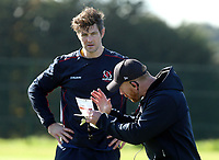 Tuesday 5th October 2021<br /> <br /> Sam Carter and Roddy Grant during Ulster Rugby training at Newforge Country Club, Belfast, Northern Ireland. Photo by John Dickson/Dicksondigital