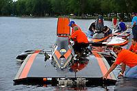 "Bert Henderson, GP-77 ""Steeler"" & Marty Wofe, GP-93 ""Renegade"", Grand Prix class hydroplane(s) at the dock..Syracuse Hydrofest, Onondaga Lake, Syracuse, NY.20/21 June, 2009, Dayton, OH USA..©F. Peirce Williams 2009 USA.F.Peirce Williams.photography.ref: RAW (.NEF) File Available"