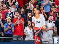 AUSTIN, TX - JUNE 16: Fans cheer during a game between Nigeria and USWNT at Q2 Stadium on June 16, 2021 in Austin, Texas.
