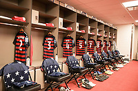 Santa Clara, CA - Wednesday July 26, 2017: USMNT locker room during the 2017 Gold Cup Final Championship match between the men's national teams of the United States (USA) and Jamaica (JAM) at Levi's Stadium.