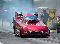 Sep 3, 2018; Clermont, IN, USA; NHRA funny car driver Bob Bode during the US Nationals at Lucas Oil Raceway. Mandatory Credit: Mark J. Rebilas-USA TODAY Sports