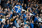 St Johnstone v Galatasaray…12.08.21  McDiarmid Park Europa League Qualifier<br />Saqints fans in the Esat stand<br />Picture by Graeme Hart.<br />Copyright Perthshire Picture Agency<br />Tel: 01738 623350  Mobile: 07990 594431