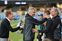 San Jose, CA - Wednesday June 28, 2017: Chris Leitch, Alex Covelo, Steve Ralston during a U.S. Open Cup Round of 16 match between the San Jose Earthquakes and the Seattle Sounders FC at Avaya Stadium.
