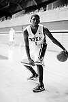 October 28, 2010. Durham, NC.. Kyrie Irving. Photographs of members of the 2010-2011 Duke basketball team, who will be defending their NCAA title..