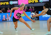 Maddy Gordon in action during the Cadbury Netball Series match between NZ A and NZ Under-21 at the Fly Palmy Arena in Palmerston North, New Zealand on Thursday, 22 October 2020. Photo: Dave Lintott / lintottphoto.co.nz