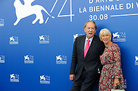 Canadian actor Donald Sutherland, left, and British actress Helen Mirren attend a photo call for the movie 'Ella & John - The Leisure Seeker' at the 74th Venice Film Festival, Venice Lido, September 3, 2017. <br /> UPDATE IMAGES PRESS/Marilla Sicilia<br /> <br /> *** ONLY FRANCE AND GERMANY SALES ***