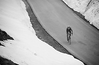 Nicolas Roche (IRL/SKY) up the snow-covered Colle dell'Agnello (2744m)<br /> <br /> stage 19: Pinerolo(IT) - Risoul(FR) 162km<br /> 99th Giro d'Italia 2016