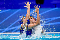ESP OZHOGINA OZHOGIN Alisa / TIO CASAS Iris<br /> Duet Technical - Final <br /> Artistic Swimming<br /> Budapest  - Hungary  10/5/2021<br /> Duna Arena<br /> XXXV LEN European Aquatic Championships<br /> Photo Andrea Staccioli / Deepbluemedia / Insidefoto