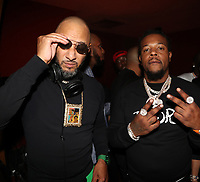 NEW YORK, NY- SEPTEMBER 12: Swizz Beatz and Rowdy Rebel pictured at Swizz Beatz Surprise Birthday Party at Little Sister in New York City on September 12, 2021. Credit: Walik Goshorn/MediaPunch