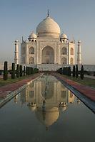 Morning reflection of the Taj Mahal, Agra, India