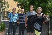 Switzerland. Canton Ticino. The family Cereghetti runs the Agriturismo Dosso dell'Ora on Monte Generoso. (Left to right): Franco, Luca, Samuel and Marina Cereghetti. 4.07.2020 © 2020 Didier Ruef