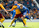 Motherwell v St Johnstone.....16.04.11  Scottish Cup Semi-Final.Shaun Hutchison and Jordan Robertson.Picture by Graeme Hart..Copyright Perthshire Picture Agency.Tel: 01738 623350  Mobile: 07990 594431