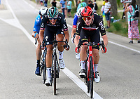 8th July 2021; Nimes, France; POLITT Nils (GER) of BORA - HANSGROHE, SWEENY Harrison (AUS) of LOTTO SOUDAL during stage 12 of the 108th edition of the 2021 Tour de France cycling race, a stage of 159,4 kms between Saint-Paul-Trois-Chateaux and Nimes.