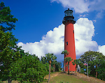 Palm Beach County, FL: Red tower of the Jupiter Inlet Lighthouse(1860)