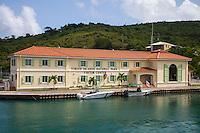 Virgin Islands National Park visitor center in Cruz Bay, St. John, USVI